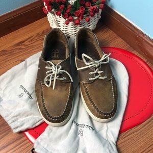 Allen Edmonds slip on shoes tan brown SZ 10.5